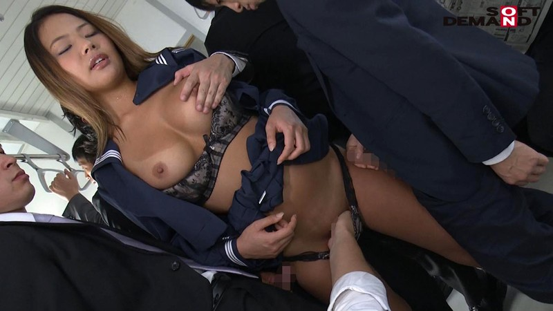 今井夏帆JK制服,乳首弄り,手マン,痴漢